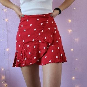 URBAN OUTFITTERS POLKA DOT WRAP SKIRT